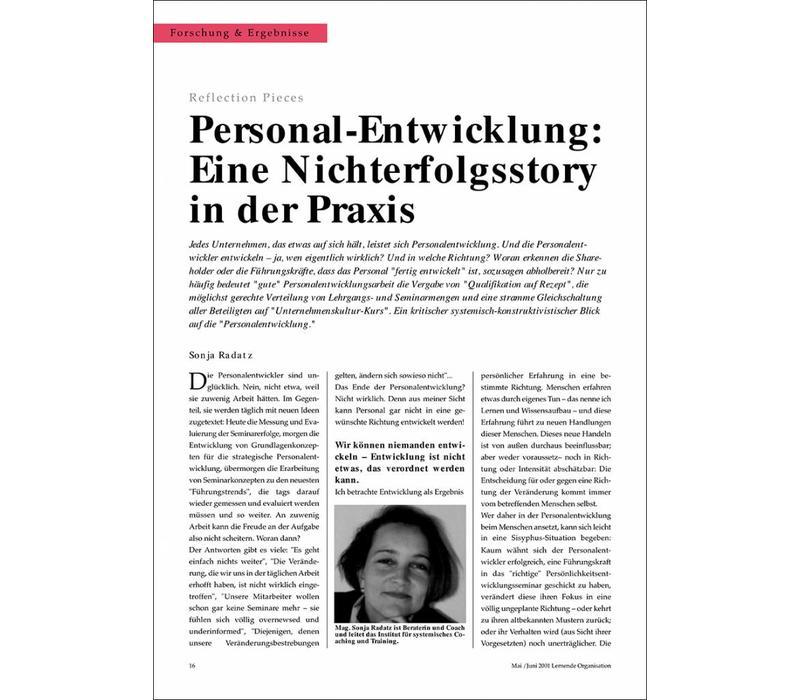 Personal - Entwicklung: Eine Nichterfolgsstory in der Praxis von Sonja Radatz