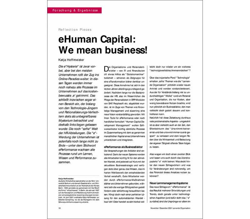 eHuman Capital: We mean business!