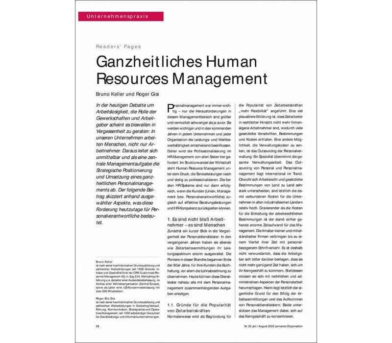 Ganzheitliches Human Resources Management