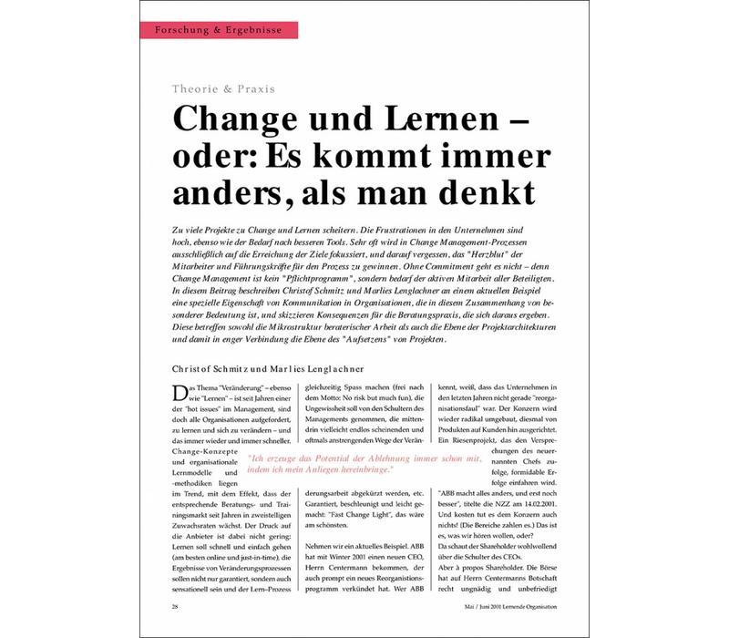 Change und Lernen - oder: Es kommt immer anders als man denkt