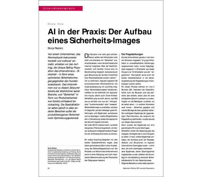 AI in der Praxis: Der Aufbau eines Sicherheits-Images