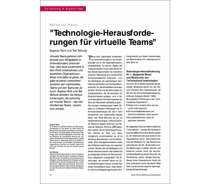 """""""Technologie-Herausforderungen für virtuelle Teams"""""""