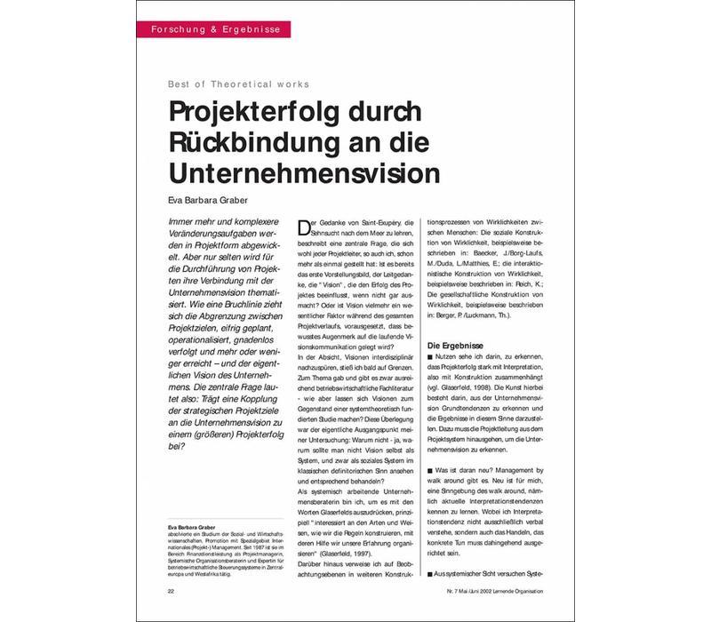 Projekterfolg durch Rückbindung an die Unternehmensvision