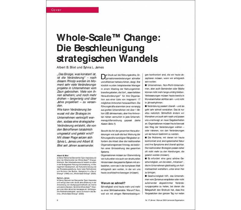 Whole-Scale™ Change: Die Beschleunigung strategischen Wandels