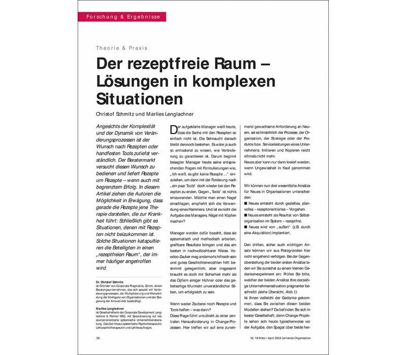 Der rezeptfreie Raum – Lösungen in komplexen Situationen