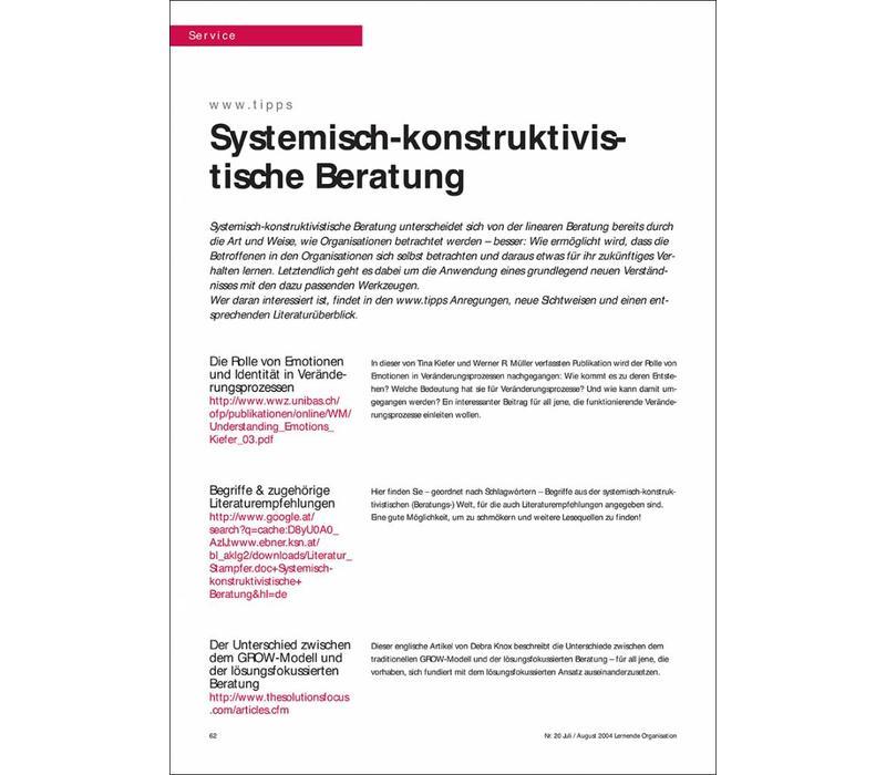 Systemisch-konstruktivistische Beratung