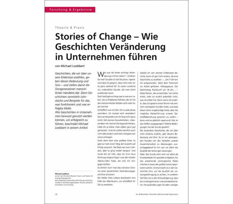 Stories of Change – Wie Geschichten Veränderung in Unternehmen führen