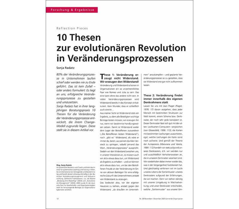 10 Thesen zur evolutionären Revolution in Veränderungsprozessen