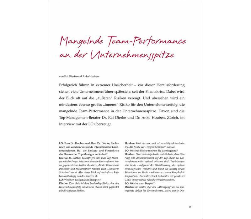 Mangelnde Team-Performance an der Unternehmensspitze
