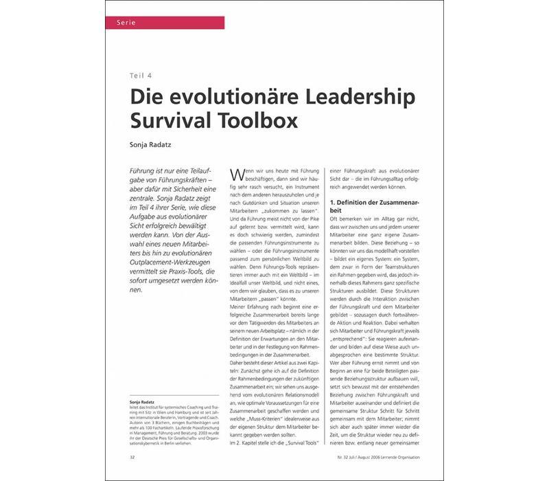 Die evolutionäre Leadership Survival Toolbox