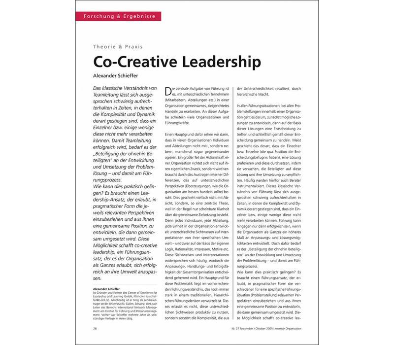 Co-Creative Leadership