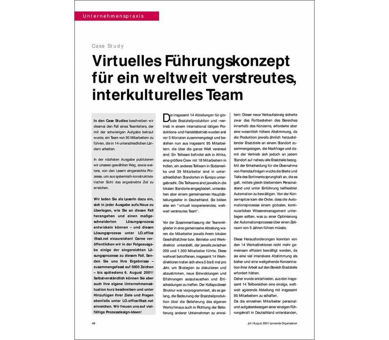 Virtuelles Führungskonzept für ein weltweit verstreutes, interkulturelles Team