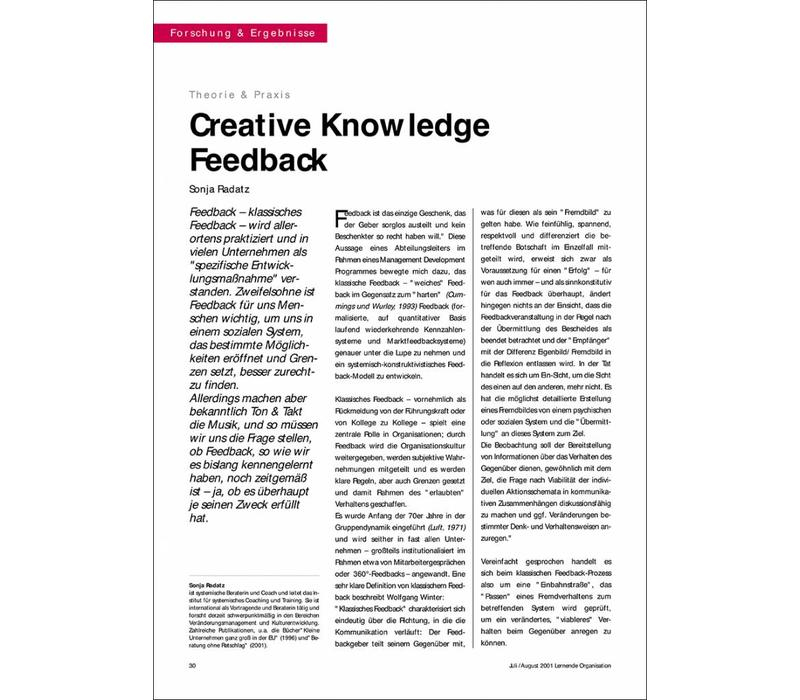Creative Knowledge Feedback