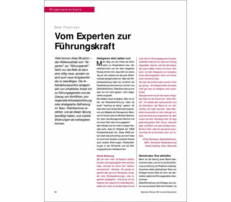 Vom Experten zur Führungskraft