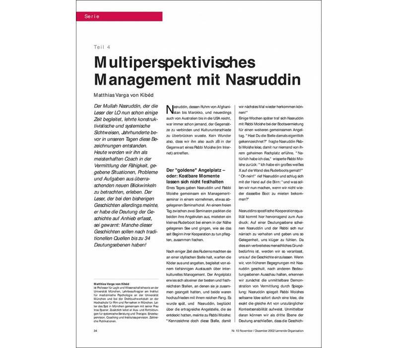 Multiperspektivisches Management mit Nasruddin