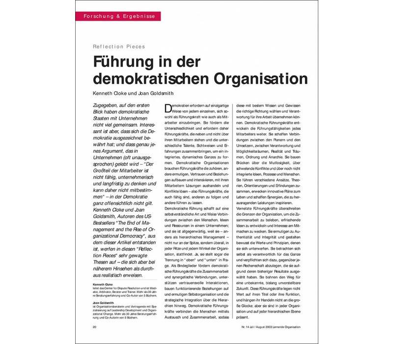Führung in der demokratischen Organisation