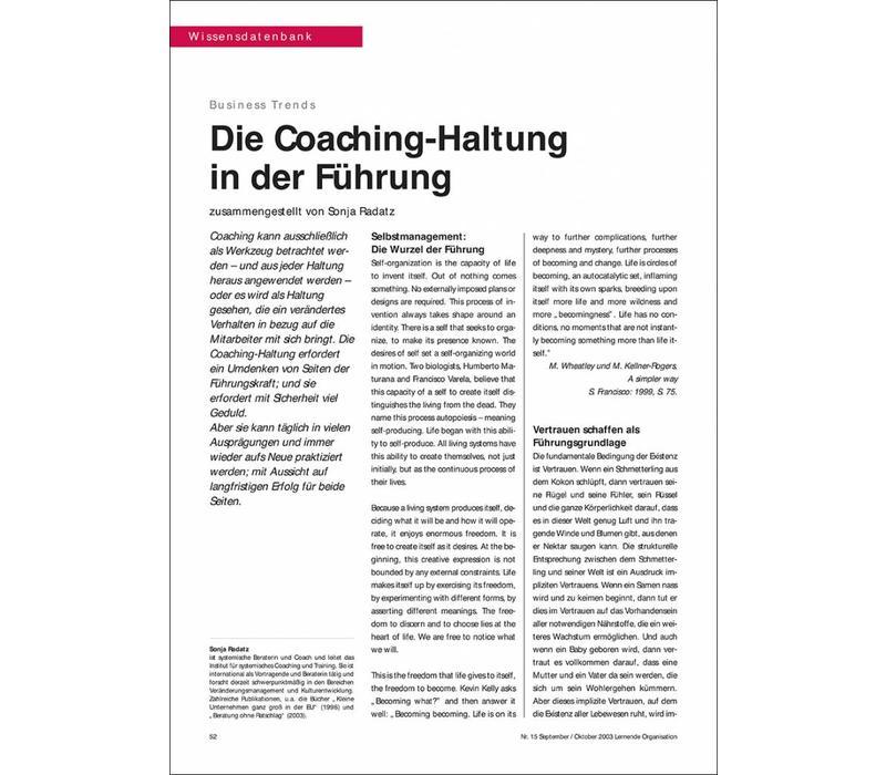 Die Coaching-Haltung in der Führung