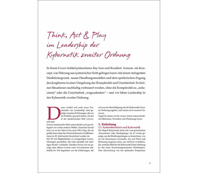 Think, Act & Play im Leadership der Kybernetik zweiter Ordnung