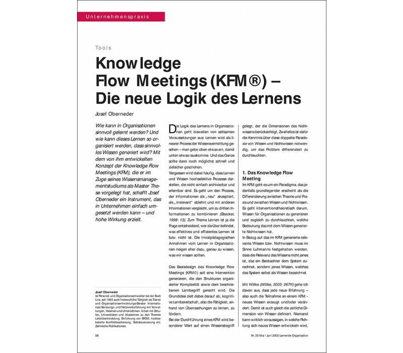 Knowledge Flow Meetings (KFM©) – Die neue Logik des Lernens