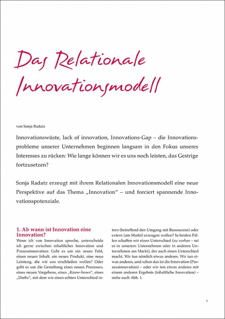 Das Relationale Innovationsmodell - IRBW