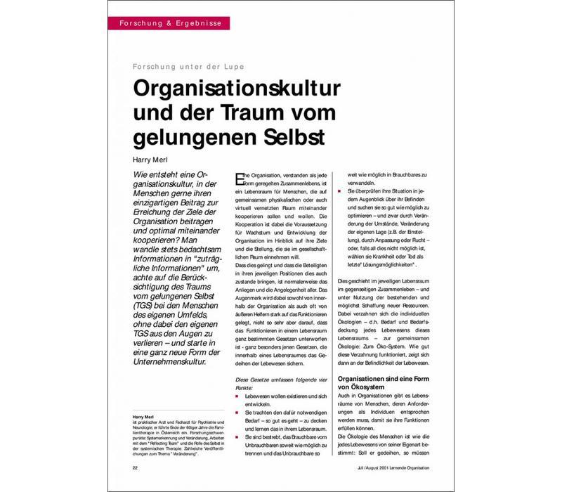 Organisationskultur und der Traum vom gelungenen Selbst