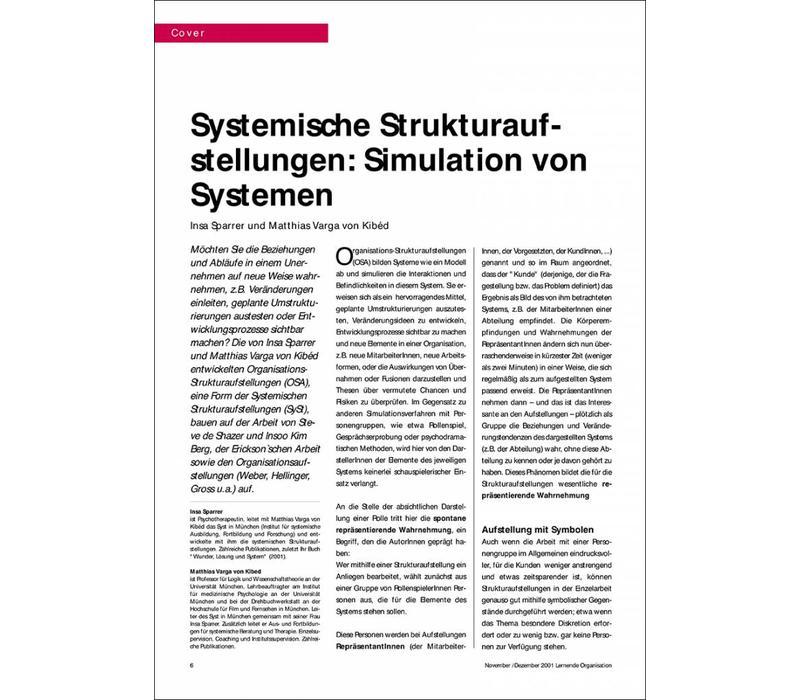 Systemische Strukturaufstellungen: Simulation von Systemen