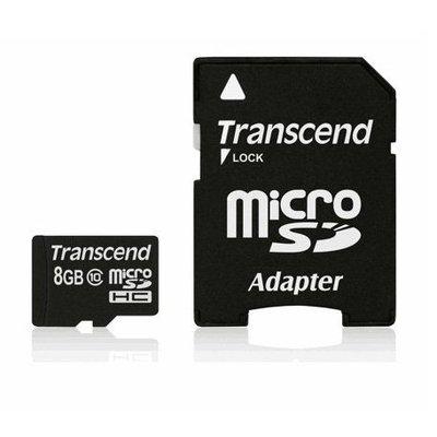 Transcend MicroSDHC 8GB geheugenkaart class 10 – nieuw model