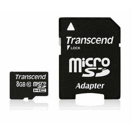 Transcend MicroSDHC 8GB geheugenkaart class 10 - nieuw model