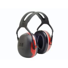 3M Gehoorkap X3A rood, met hoofdband