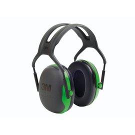 3M Gehoorkap X1A groen, met hoofdband