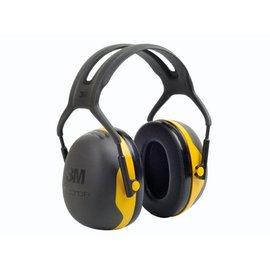 3M Gehoorkap X2A geel, met hoofdband