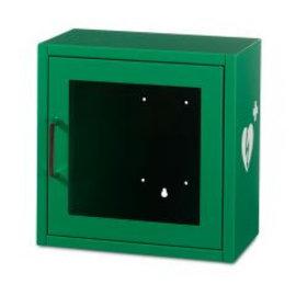 Universele AED wandkast groen met alarm