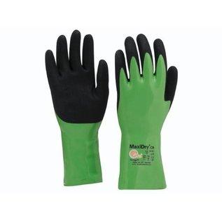 Handschoenen Maxidry 56-635 groen, nitril, Palm gecoat, 35 cm