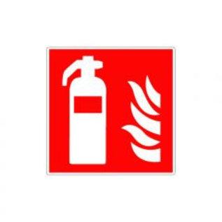 Brandblusser met vlammen pictogram sticker (vinyl)