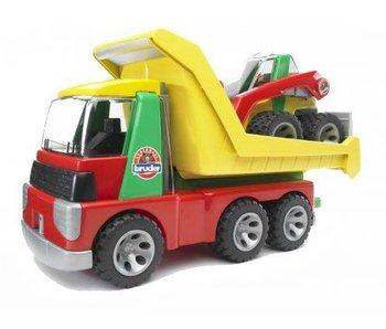 Bruder 20070 - Roadmax Transporter met kompaktlader minishovel