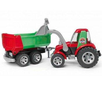 Bruder 20116 - Roadmax Tractor met voorlader en aanhanger