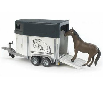 Bruder 2028 - Paardentrailer met paard