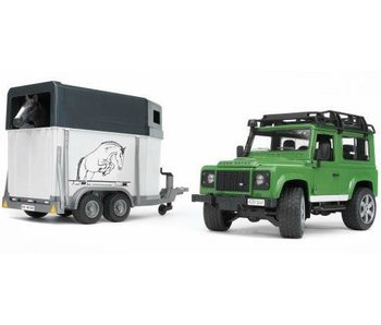 Bruder 2592 - Land Rover met paardentrailer