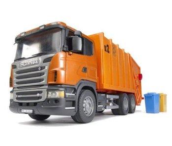 Bruder 3560 - Scania oranje vuilniswagen