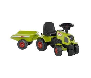 Falk Claas Axos tractor met aanhanger
