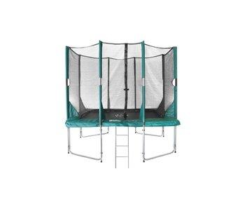 Hi-Flyer 1075 Combi trampoline 3.10 x 2.32m. + veiligheidsnet + ladder