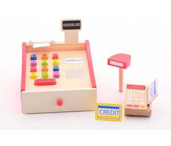 Joueco Houten kassa met scanner