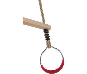 KBT houten ringtrapeze met metalen ringen - PP