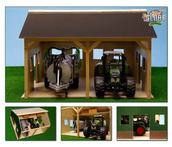 Kids Globe loods voor 2 Bruder tractoren