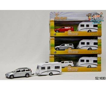 Kids Globe Volvo V70 met caravan