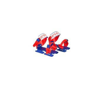 Nijdam Nijdam Glij-ijzers verstelbaar Rood/Kobalt Maat 24-34
