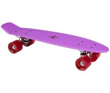 Nijdam Nijdam Plastic Skateboard 22.5q b LED wielen Paars/Fuchsia