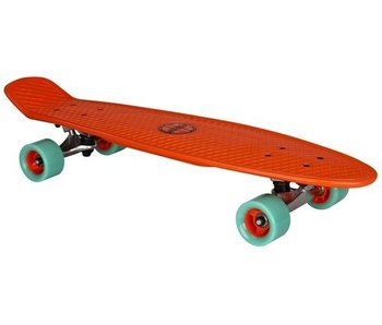 Nijdam Nijdam Plastic Skateboard 28 Inch - Flipgrip-board - Rood/Mintgroen