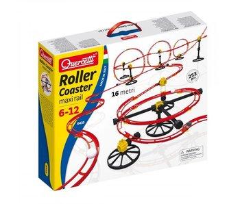 Quercetti Knikkerbaan Roller Coaster Maxi Rail (16m)