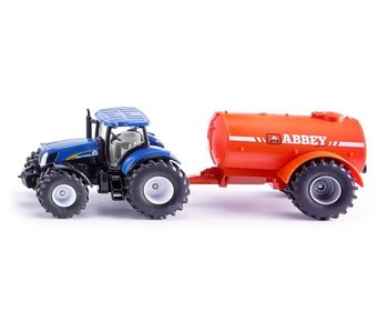Siku 1945 NH tractor +1-assige vacuumtanker (1:50)